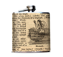 Mermaid Dictionary Page Hip Flask