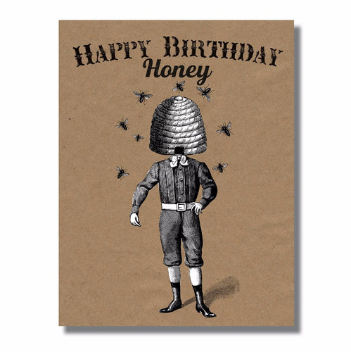 Happy Birthday Honey Honey Bee Birthday Card