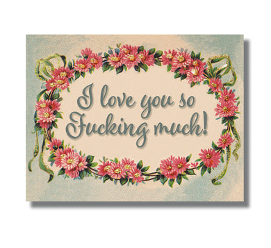 F-ing Love You GLITTER Greeting Card