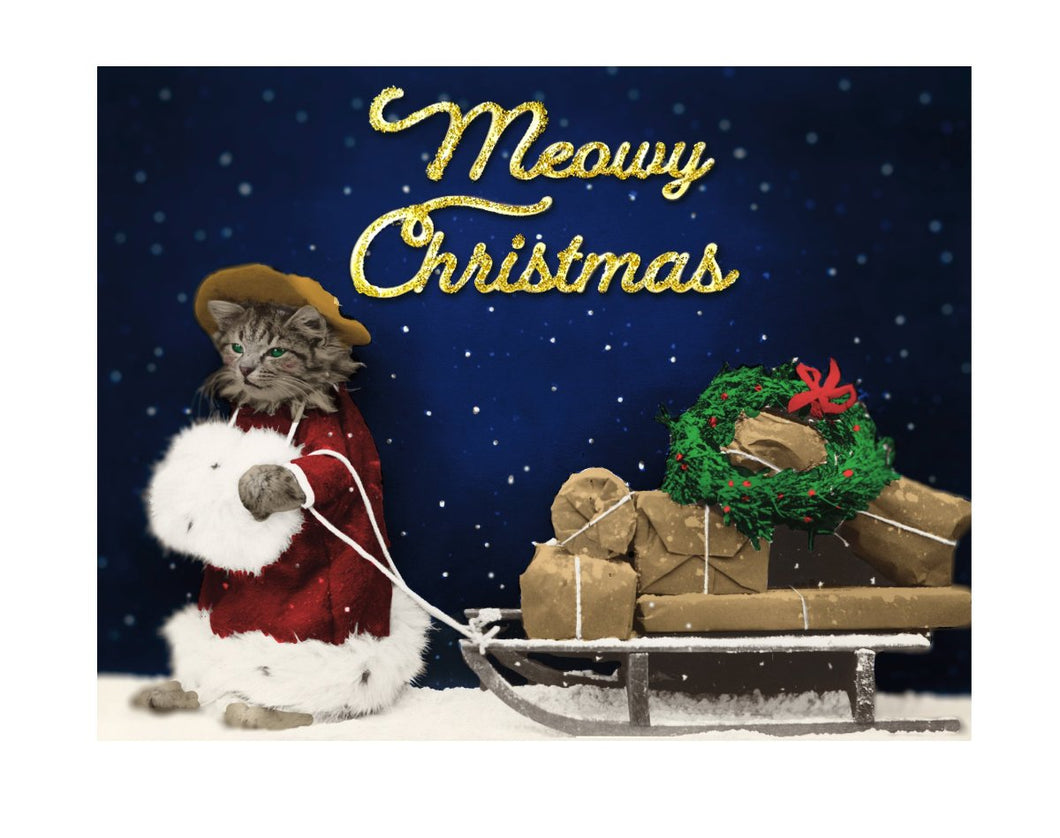 Meowy Christmas Holiday Greeting Card