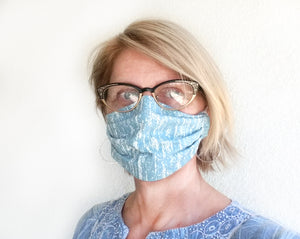 Unisex Flames Face Mask, Washable and Reversible Cotton
