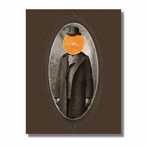 Orange Man Blank Note Card