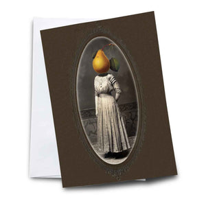 Pear Woman Blank Note Card
