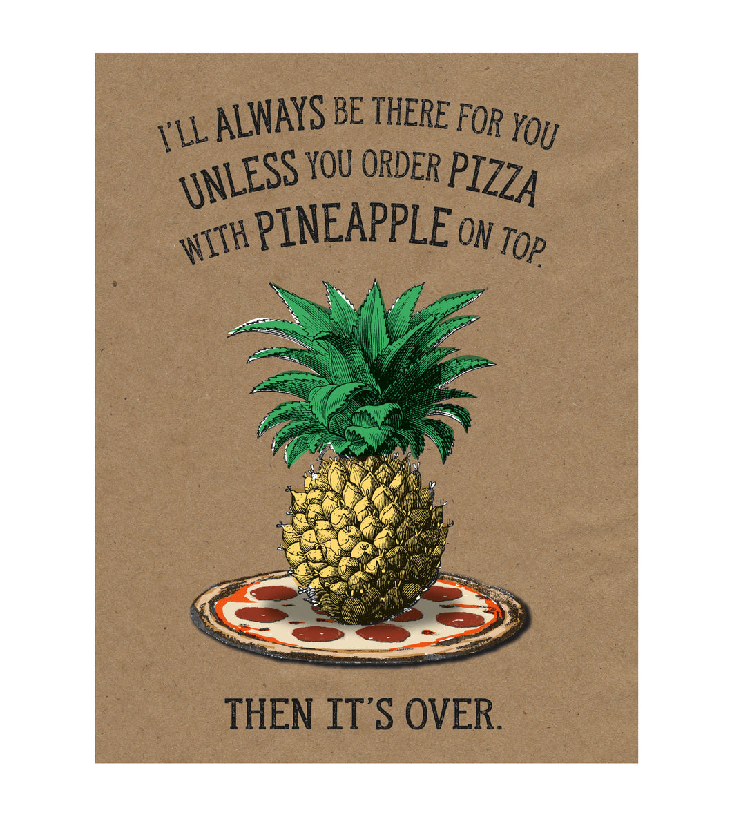 Pineapple on Pizza Controversy Greeting Card