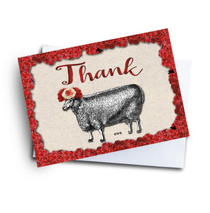 Thank Ewe Card - Fun Thank You Card