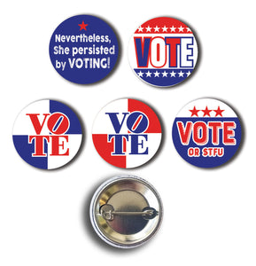 VOTE! 5-Pin Assortment - FREE SHIPPING!