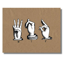 WTF American Sign Language Greeting Card