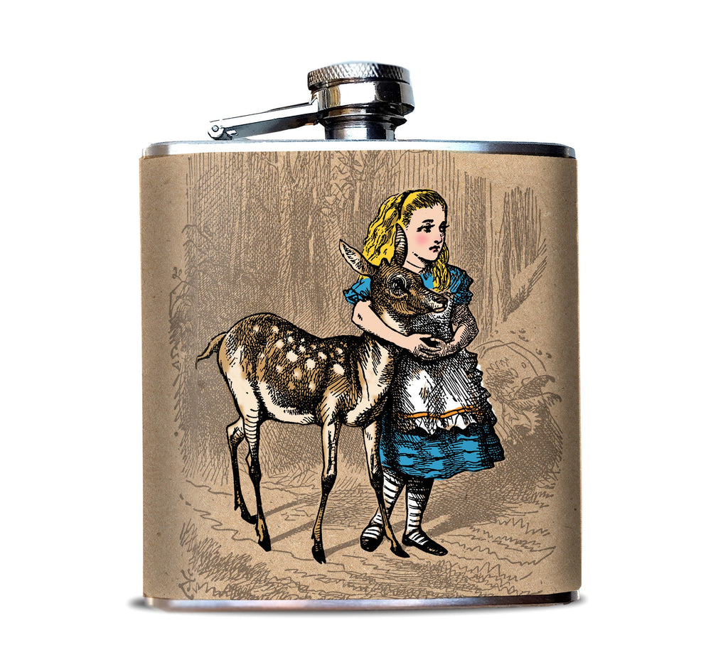 Alice and Fawn Wonderland Flask for Women
