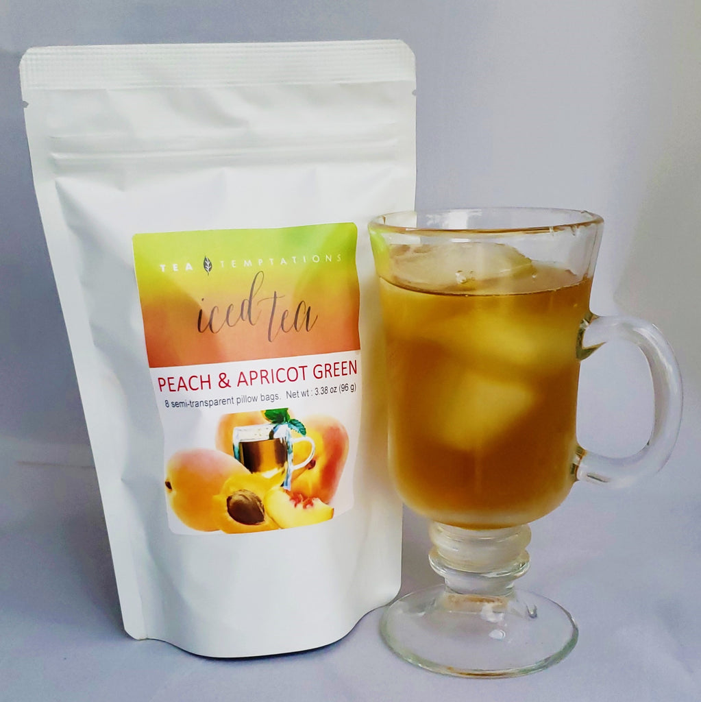 Peach & Apricot Green Iced Tea