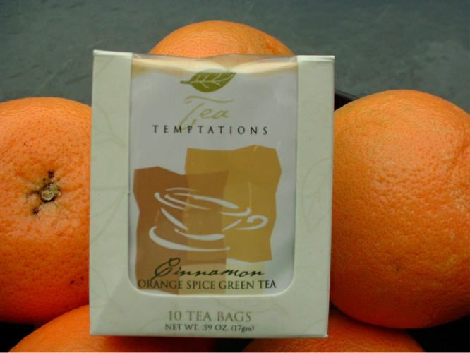 Tea Temptations - Cinnamon Orange Spice Green Tea