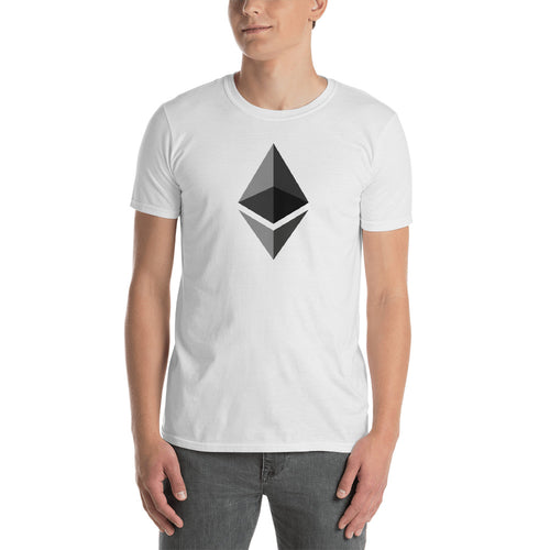 Ethereum T Shirt White Cryptocurrency Ethereum Tee Shirt Blockchain Digital Ledger T Shirt for Men - FlorenceLand