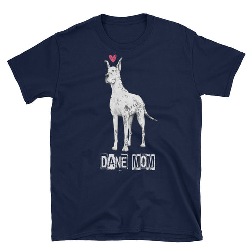 Great Dane Mom T Shirt Navy Great Dane Lady T Shirt Unisex Mothers Day Gift T Shirt Idea - FlorenceLand
