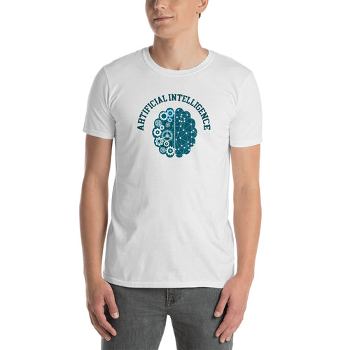 Artificial intelligence T Shirt White AI Geek T Shirt for Men - FlorenceLand