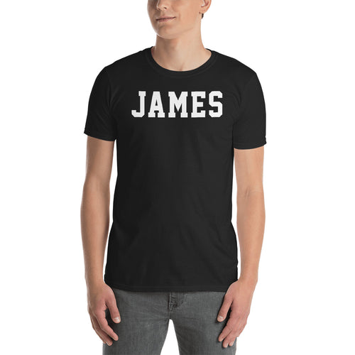 James T Shirt Custom Made Personalized James Name Print T Shirt Black Cotton Tee Shirt - FlorenceLand