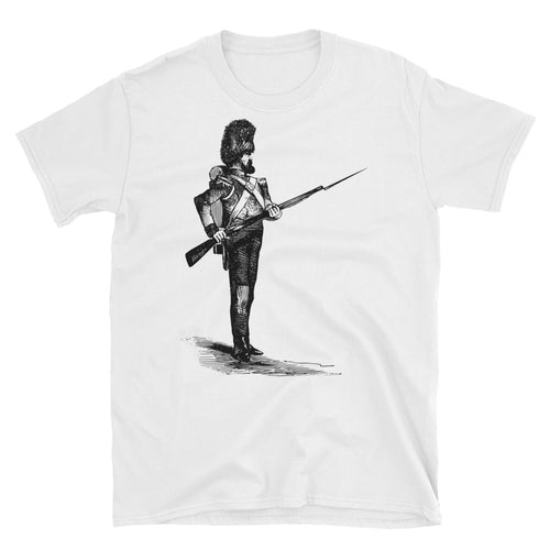 400649ea6 Unisex Soldier with a Bearskin and a Gun T-Shirt Second World War Soldier -