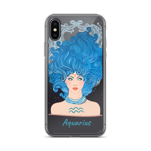 Aquarius iPhone x Case Zodiac Sign iPhone x Case iPhone x Case Blue Star Sign - FlorenceLand