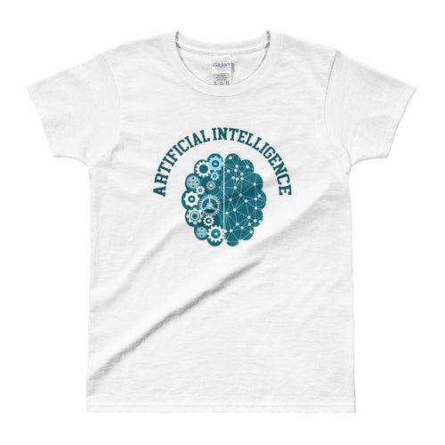 Artificial intelligence T Shirt White AI Geek T Shirt for Women - FlorenceLand
