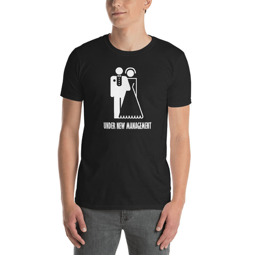 Just Married T Shirt Newly Married T Shirt Black Under New Management T Shirt For Men - FlorenceLand