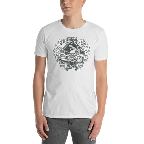 Vintage Motorcycle T Shirts Biker T Shirt White Motorcycle Apparel Cotton Motorcycle T Shirt for Men - FlorenceLand