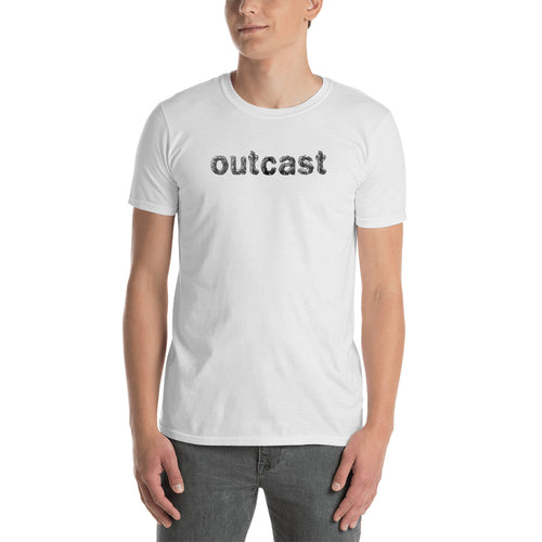 Outcast T Shirt White One Word Outcast T Shirt for Men - FlorenceLand