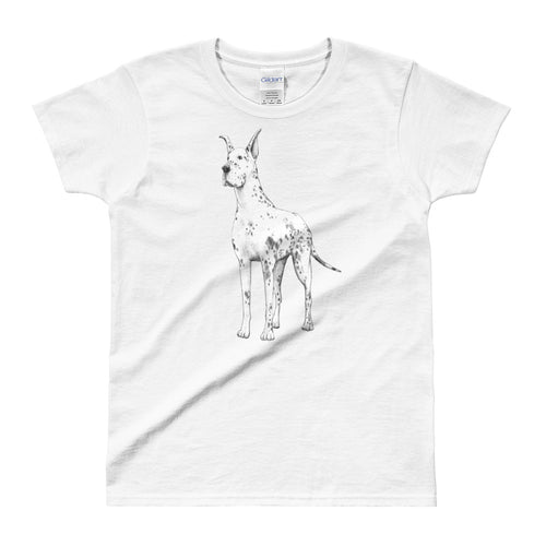 Great Dane T Shirt White Great Dane T Shirt for Women - FlorenceLand