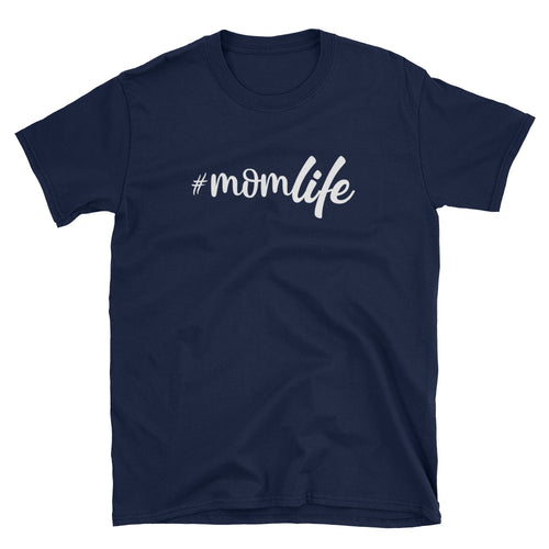 Mom Life T Shirt Unisex Momlife Tee Gift Navy Mum Life T Shirt for Mother - FlorenceLand