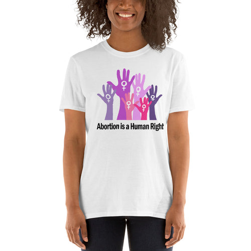 Buy Abortion is a Human Right T-Shirt for Women in White Color