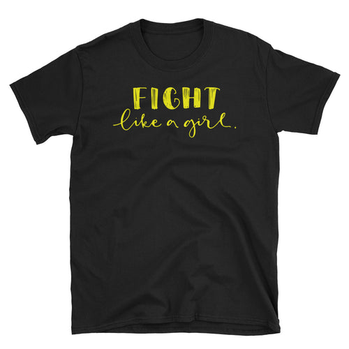 Fight Like a Girl T Shirt Black Girl Empowerment T Shirt Short-Sleeve Strong Girl T-Shirt - FlorenceLand