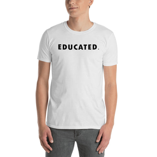 Educated T Shirt White Educated Man T Shirt For Men - FlorenceLand