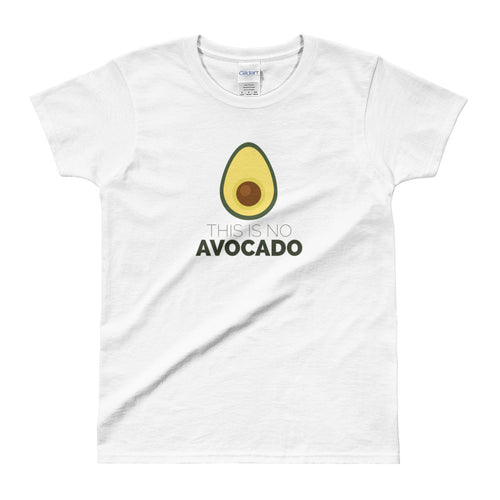 Avocado Shirt Vegan Shirt White Avocado Chest Shirt for Women