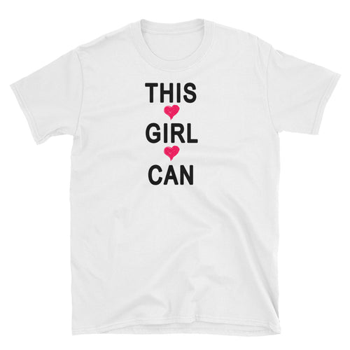 This Girl Can T-Shirt White Motivational T Shirt for Women - FlorenceLand
