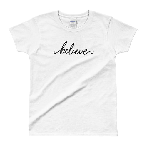 Believe T Shirt I want to Believe T Shirt White for Women - FlorenceLand