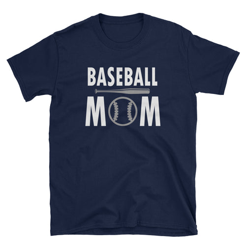 Baseball Mom T Shirt Navy Short-Sleeve Unisex Baseball Mom T Shirt - FlorenceLand