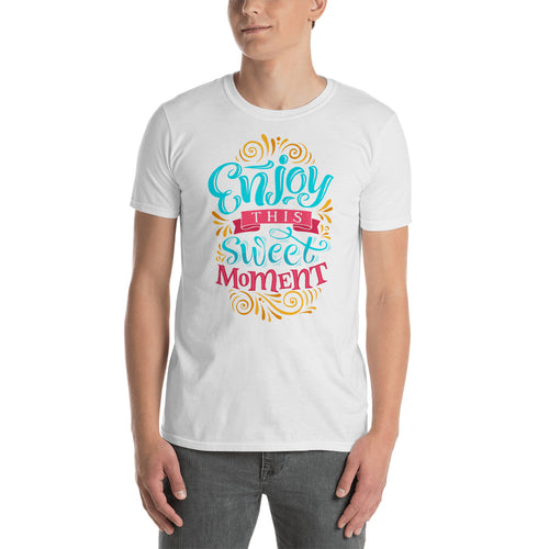 Enjoy This Sweet Moment T Shirt in White for Men - FlorenceLand