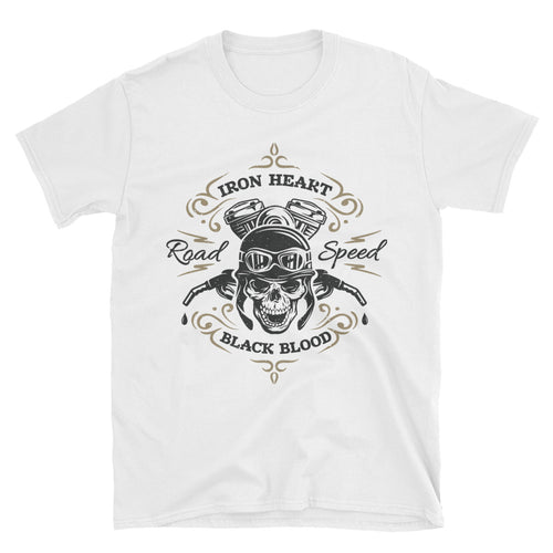 Road Speed Biker T Shirt White Motorcycle Bike T Shirt for Men - FlorenceLand