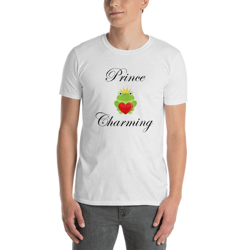 Prince Charming T Shirt White Frog Prince T Shirt for Men - FlorenceLand