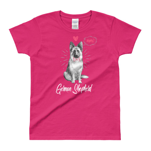 Male German Sheppard T Shirt Pink German Sheppard Mom T Shirt for Women