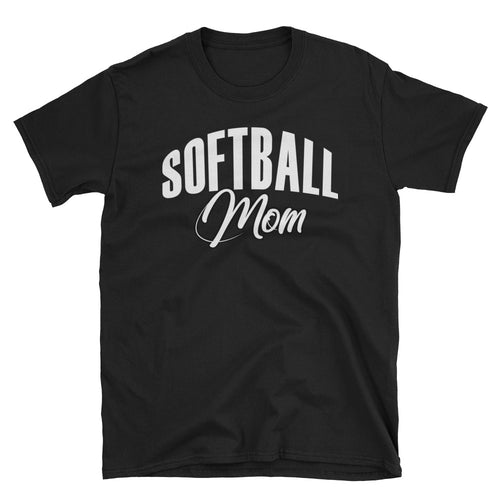 Softball Mom T Shirt Unisex Black Sporty Softball Mom Gift T Shirt Design Idea - FlorenceLand