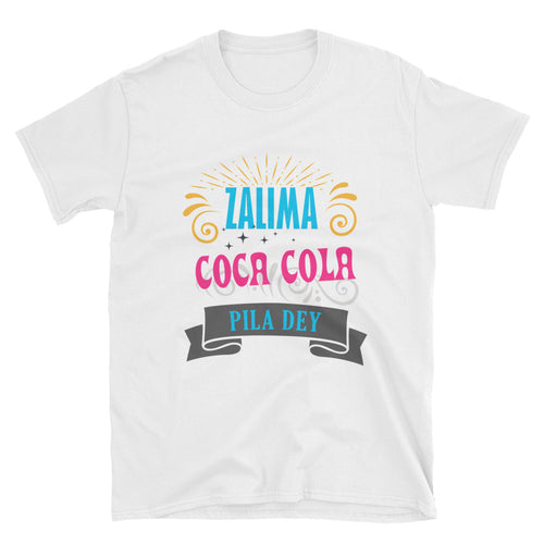 Zalima Coca Cola Pila De T-Shirt White Funny Desi T Shirt for Women - FlorenceLand