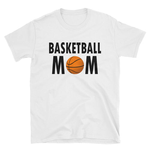 Basketball Mom T Shirt White Short-Sleeve Unisex Basketball Mom T Shirt - FlorenceLand