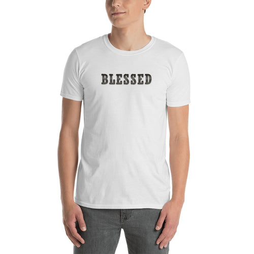 Blessed T Shirt White Blessed T Shirt for Men - FlorenceLand