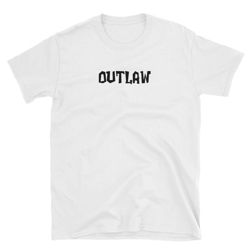 Outlaw One word T Shirt for Men - FlorenceLand