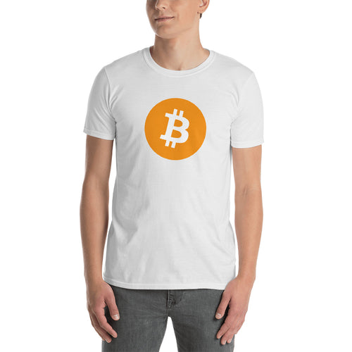 Bitcoin T Shirt White Cryptocurrency Bitcoin Tee Shirt Blockchain Digital Ledger T Shirt for Men - FlorenceLand