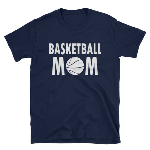 Basketball Mom T Shirt Navy Unisex Sports Mother T Shirt Navy Basketball Mum T Shirt - FlorenceLand