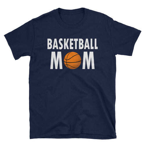Basketball Mom T Shirt Navy Short-Sleeve Unisex Basketball Mom T Shirt - FlorenceLand