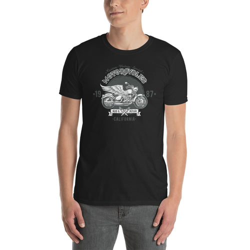 Motorcycle T Shirts Black Retrobike Tee Shirts Cotton Triumph Motorcycle T Shirts for Men - FlorenceLand