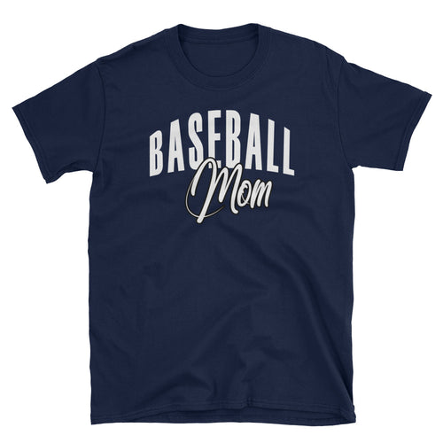 Baseball Mom T Shirt Navy Baseball Tee Gift All Sizes Including Plus Size Baseball Mum T Shirt - FlorenceLand