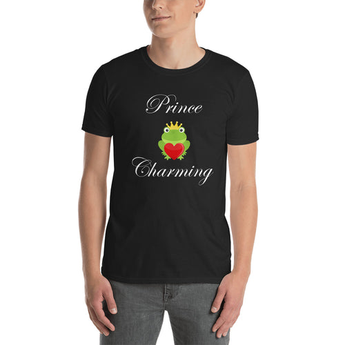 Prince Charming T Shirt Black Frog Prince T Shirt for Men - FlorenceLand