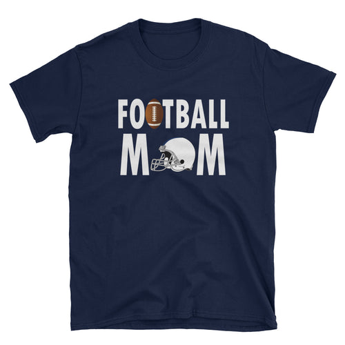 Football Mom T Shirt Navy Unisex Sporty Mother Gift T Shirt Football Mum T Shirt - FlorenceLand