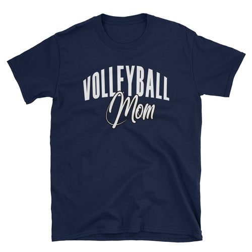 Volleyball Mom T Shirt Navy Volleyball Gift T Shirt for Sporty Mums - FlorenceLand